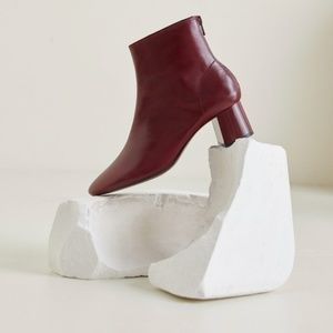 Mango - Leather Boot (red)